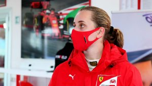 Sixteen-year-old becomes first female driver to join Ferrari Driver Academy