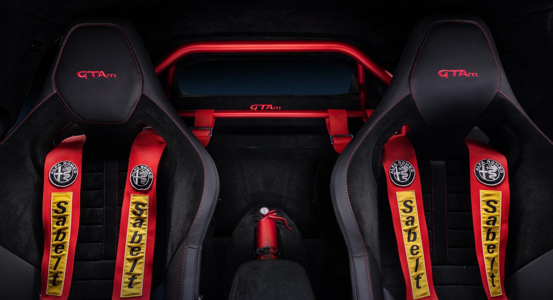 Alfa Romeo Giulia GTAm   interior   six-point racing harness