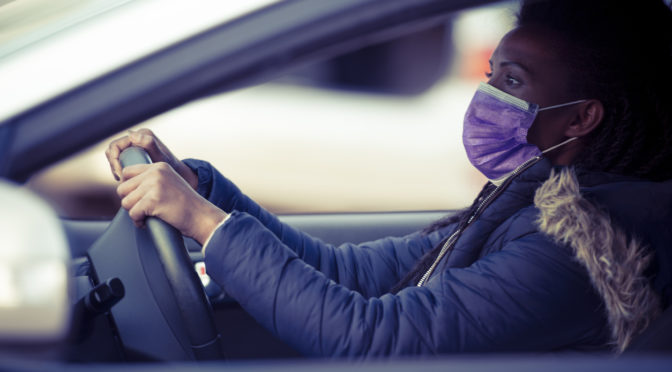 driving in a mask | coronavirus | lockdown | covid-19 | south africa