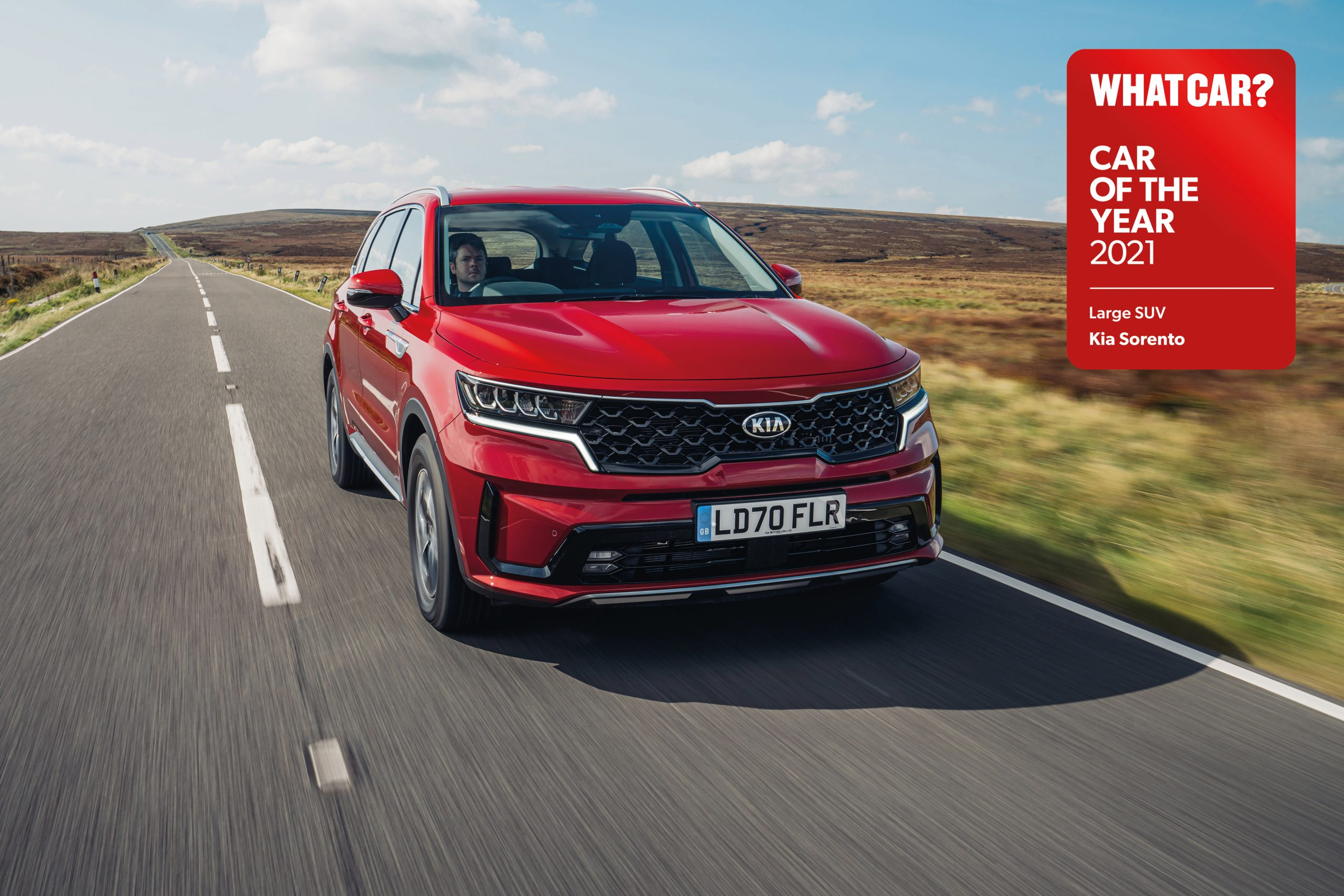 Sorento wins 'Large SUV of the year' at 2021 What Car? Car of the Year awards