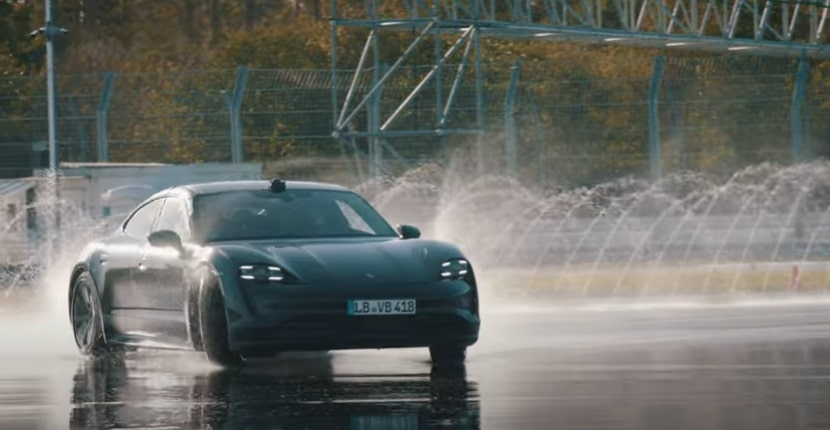 World's longest electric car drift done by Porsche