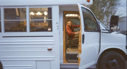 This mini bus was converted into the perfect mobile home