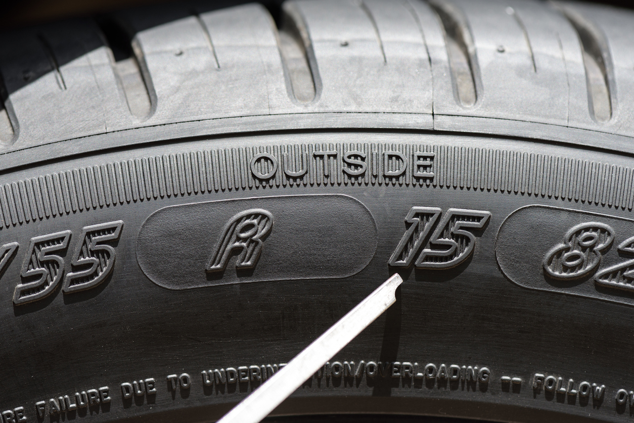 Tyres | numbers | construction | size | sidewall | definition