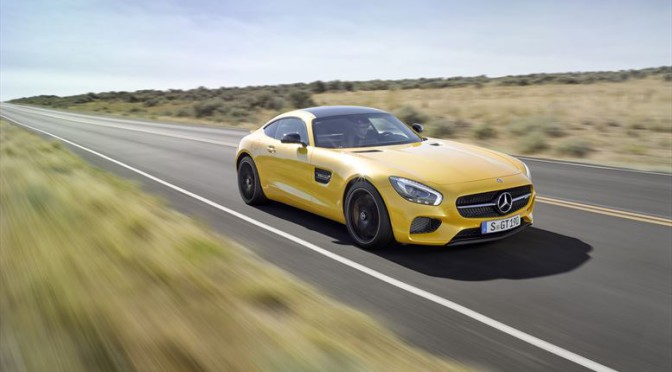 Mercedes-AMG GT Driving on Road