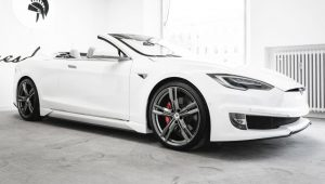 Ares Design has created a once-off convertible Tesla Model S