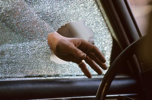 Smash and grab car window